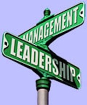 leadership and management sign
